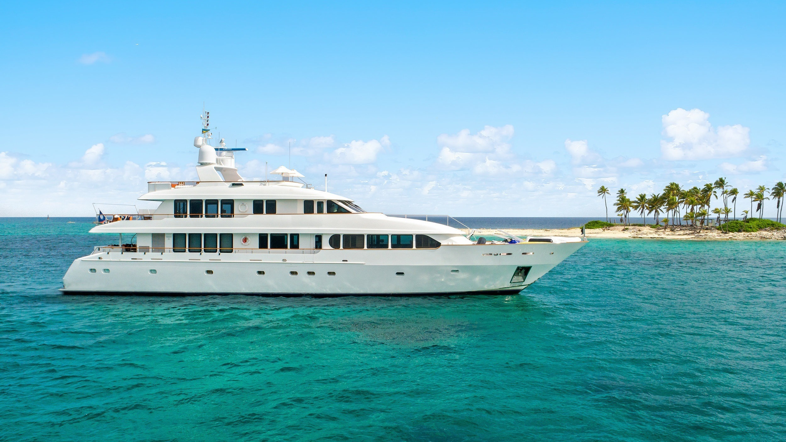 comfortable and capable motor yacht with a cruising speed of 10 knots