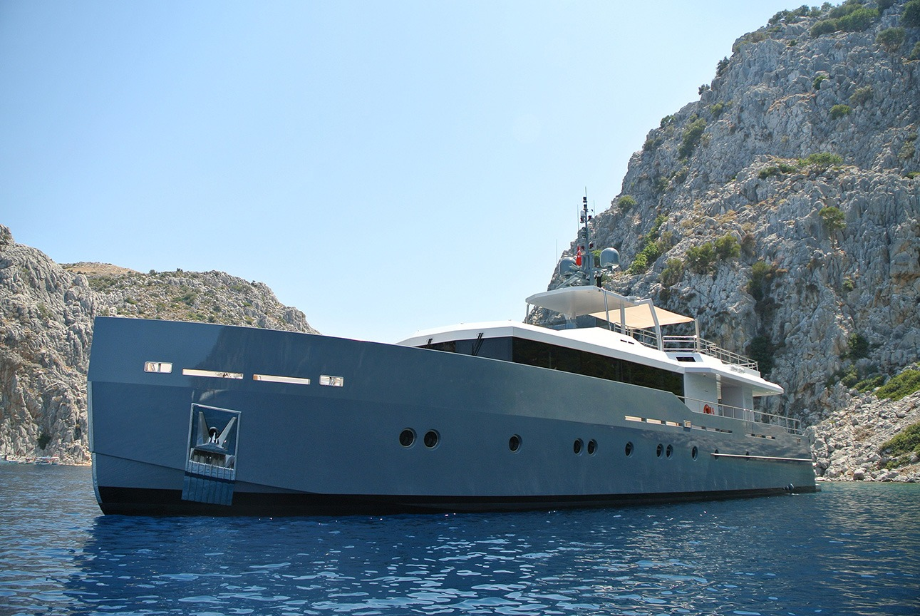 Charter Yacht with unique distinctive style