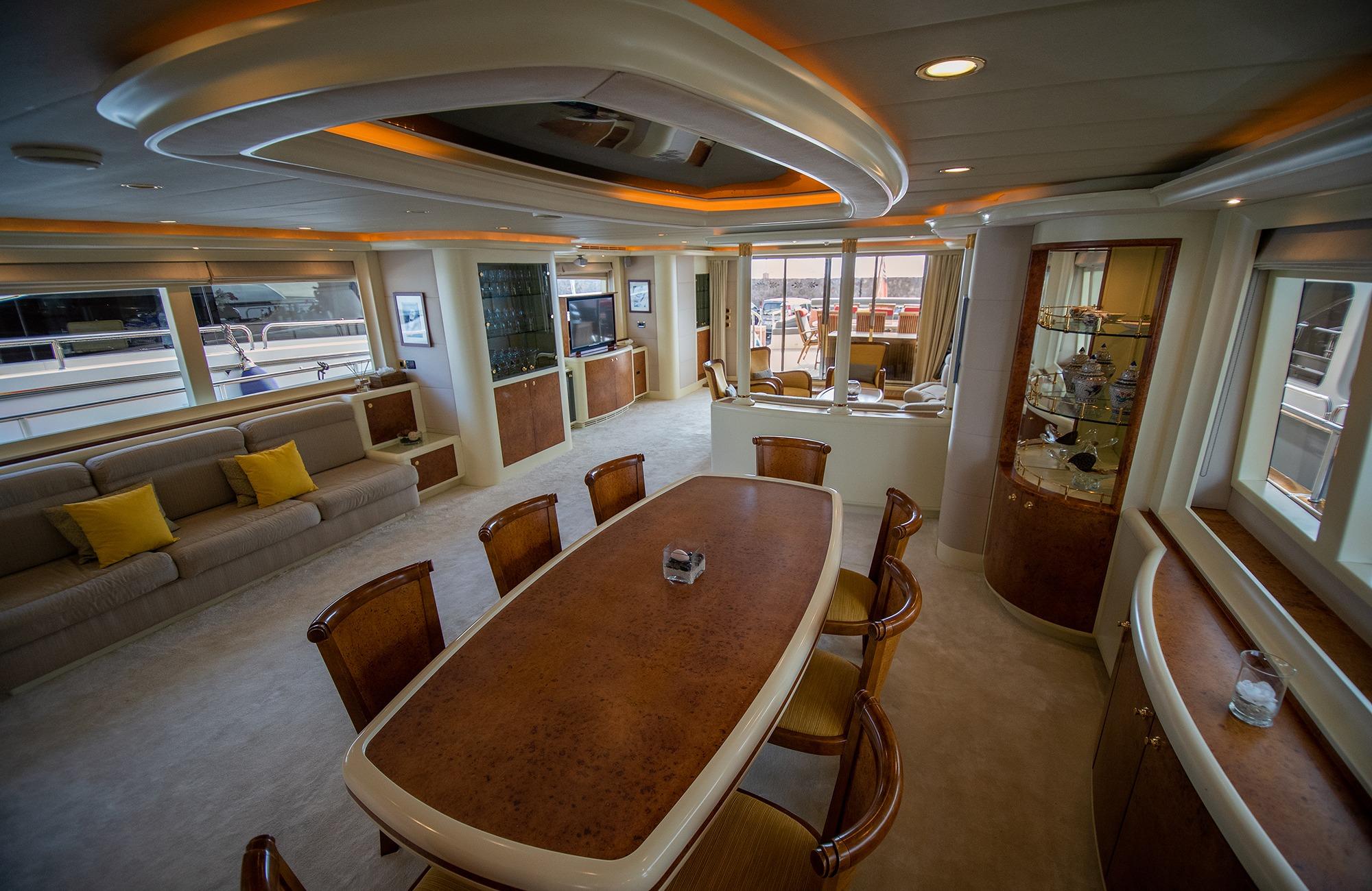 formal dining area.