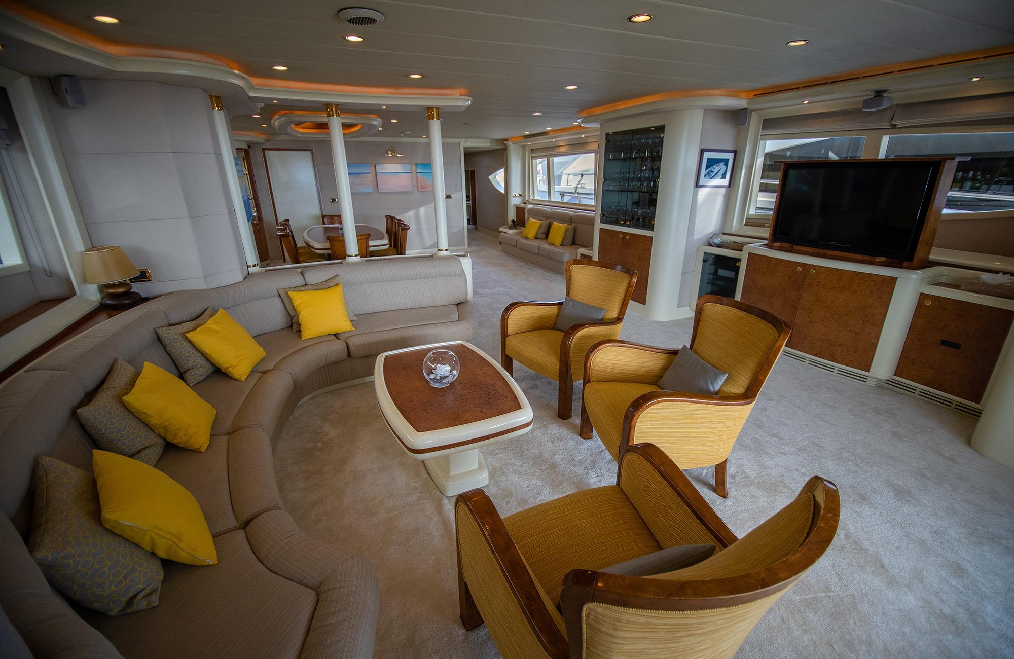 spacious and comfortable saloon lounge