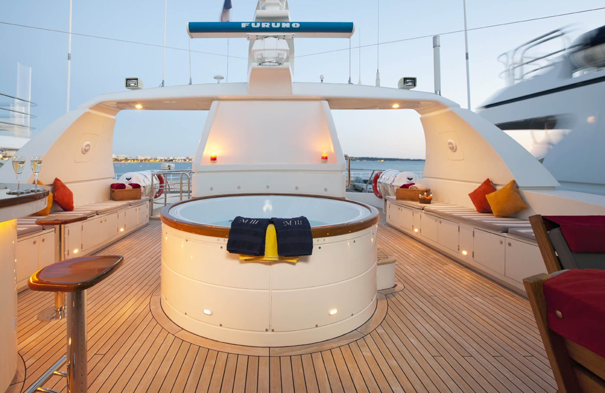 On-deck Jacuzzi