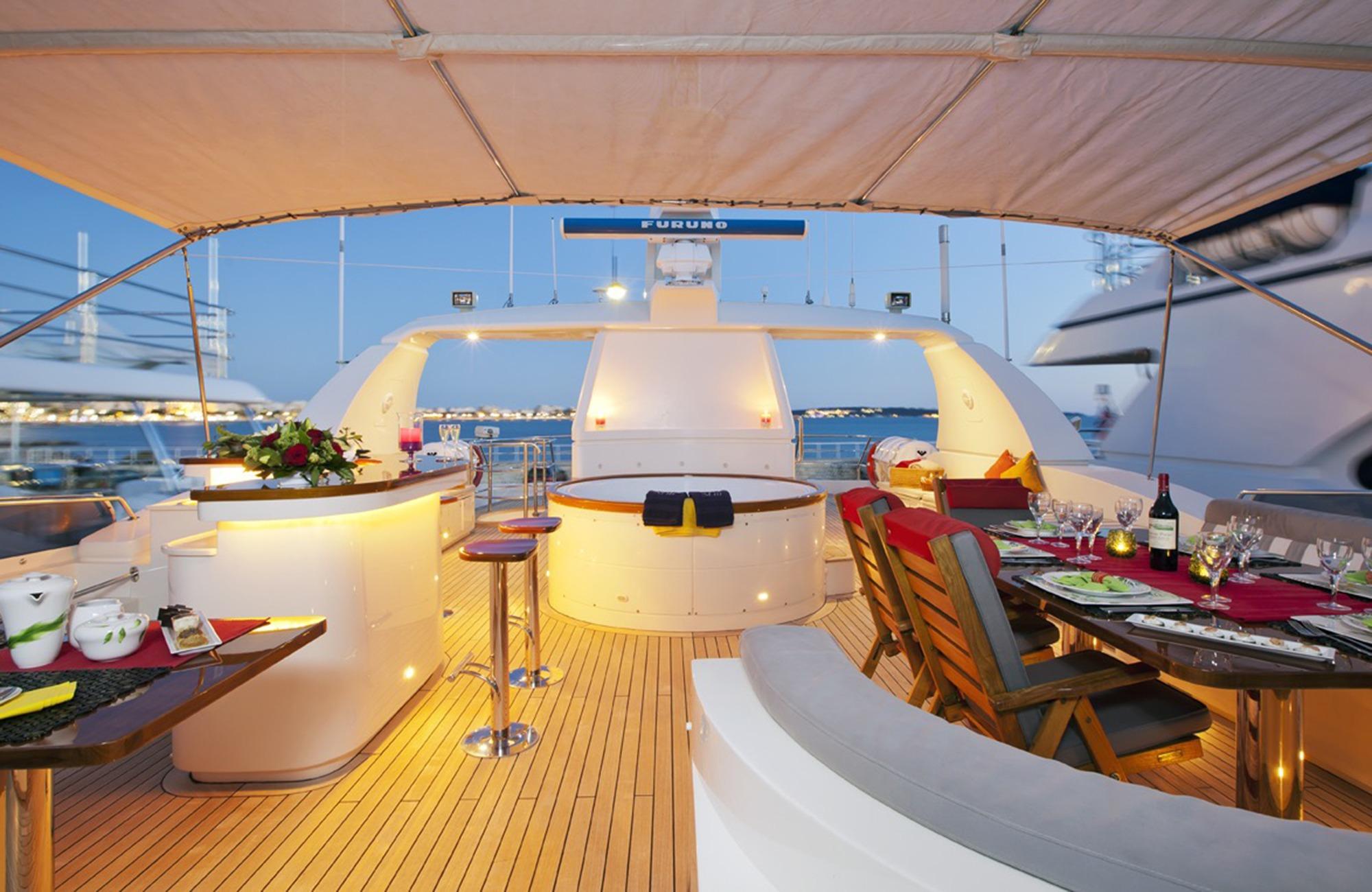 expansive sun deck